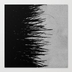 Concrete Fringe Black on Side Canvas Print