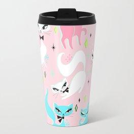 Swanky Kittens on Pink Travel Mug