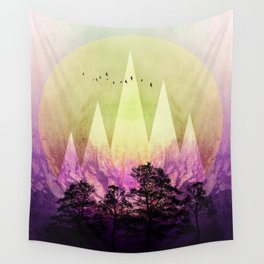 TREES under MAGIC MOUNTAINS III Wall Tapestry