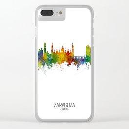 Zaragoza Spain Skyline Clear iPhone Case