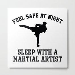Sleep With A Kickboxer Metal Print