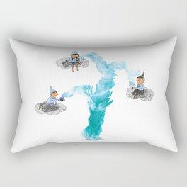 Geyser Gazers - elves drinking tea on clouds Rectangular Pillow