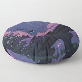 Moonrise twilight Floor Pillow