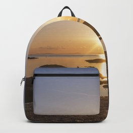 Sunset at Plum Cove Beach Backpack