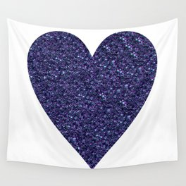 Sparkling Heart blue Wall Tapestry