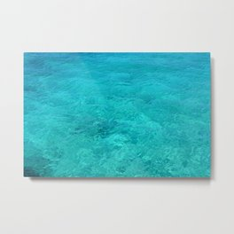Clear Turquoise Water Metal Print