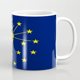 flag indiana,midwest,america,usa,carmel, Hoosier,Indianapolis,Fort Wayne,Evansville,South Bend Coffee Mug
