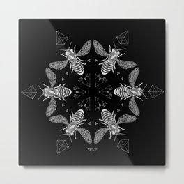 Mandala - Killer Bees Metal Print