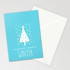 My Favourite Month is.........Winter Stationery Cards