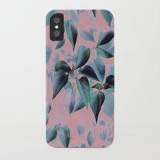 Tropical Foliage on Pink Slim Case iPhone X