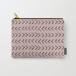 Arrows on Oyster Pink Carry-All Pouch