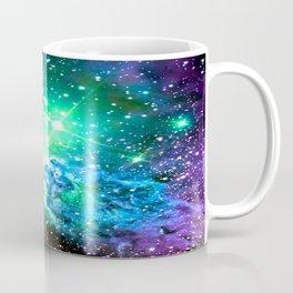 Fox Fur Nebula BRIGHT : Green Blue Purple Galaxy Coffee Mug