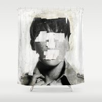 mouth Shower Curtains featuring Faceless | number 02 by FAMOUS WHEN DEAD