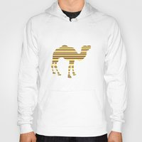 camel Hoodies featuring Camel Stripes by Crayle Vanest