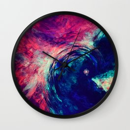 Moéhala | Zoom In 1 | Colourful, Intesive, Raw, Unfiltered Wall Clock