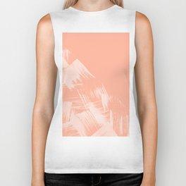 Sweet Life Paint Swipes Peach Coral Pink Biker Tank