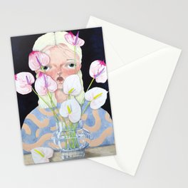 Ariel and the Anthuriums Stationery Cards