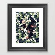 Camouflage Skull Framed Art Print
