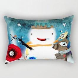 Aurora Australis Christmas Whimsical Stars Rectangular Pillow