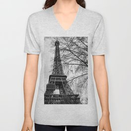 Eiffel tower Paris Unisex V-Neck