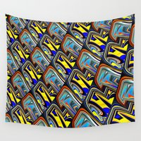 scales Wall Tapestries featuring Scales by David  Gough