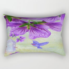 Purple Cranesbill Rectangular Pillow
