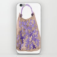 tote bag iPhone & iPod Skins featuring Tote 1 by ©valourine