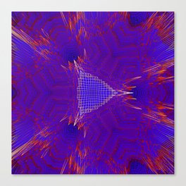 Red and blue abstract digital background Canvas Print