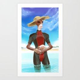 ME- Somewhere sunny Art Print