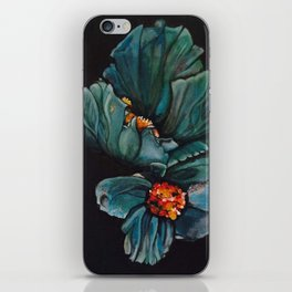 Remembrance - Blue Poppy Himalayan Flower iPhone Skin