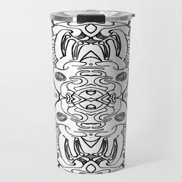 BWpattern1 Travel Mug
