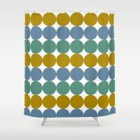 et Shower Curtains featuring Formes et couleurs by Yasmina Baggili