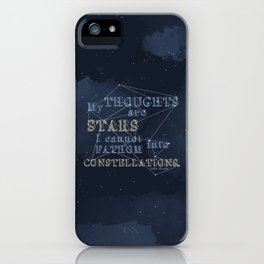 TFIOS - My Thoughts Are Stars iPhone Case
