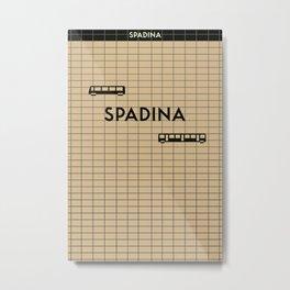 SPADINA | Subway Station Metal Print