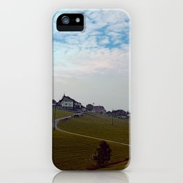 Scenery with clouds, a hill and nothing particular   landscape photography iPhone Case