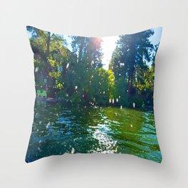 Droplets of Joy Throw Pillow
