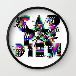 Carpe Diem #typography #lettering #glitchart #buyart #society6 Wall Clock