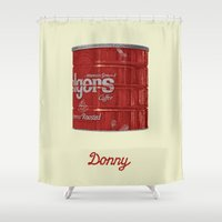 lebowski Shower Curtains featuring The Lebowski Series: Donny by Bubblegun