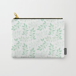 Leaves pattern in Pale Green Carry-All Pouch