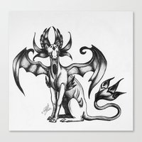 sphynx Canvas Prints featuring Sphynx by STiCK MONSTER iNK