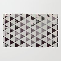 triangles Area & Throw Rugs featuring triangles. by Georgiana Paraschiv
