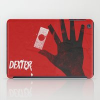 movie poster iPad Cases featuring Dexter - Alternative Movie Poster by Stefanoreves