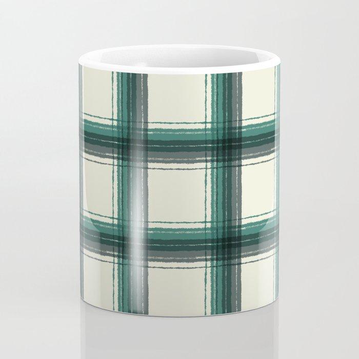 plaid-pine green Coffee Mug
