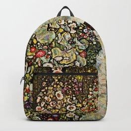 """Gustav Klimt """"Garden Path with Chickens"""" Backpack"""