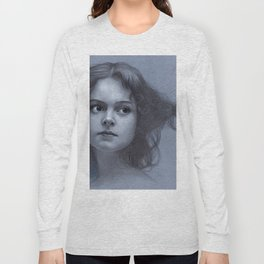 Behind greyness - pencil drawing on paperboard Long Sleeve T-shirt