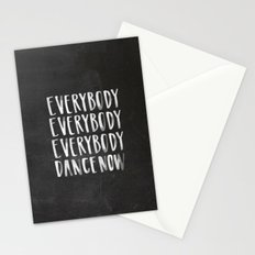 Everybody Dance Now Chalkboard Stationery Cards