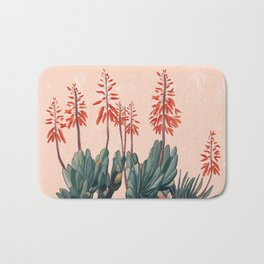 A blooming Plant Bath Mat