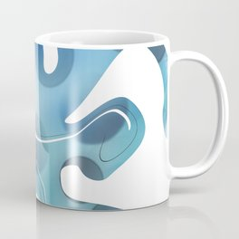 Abstract Blue Mixed Paint design Coffee Mug