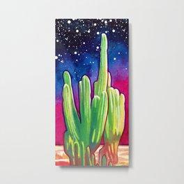 Cosmic Cactus - saguaro Metal Print