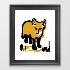 Just a little mustard Framed Art Print